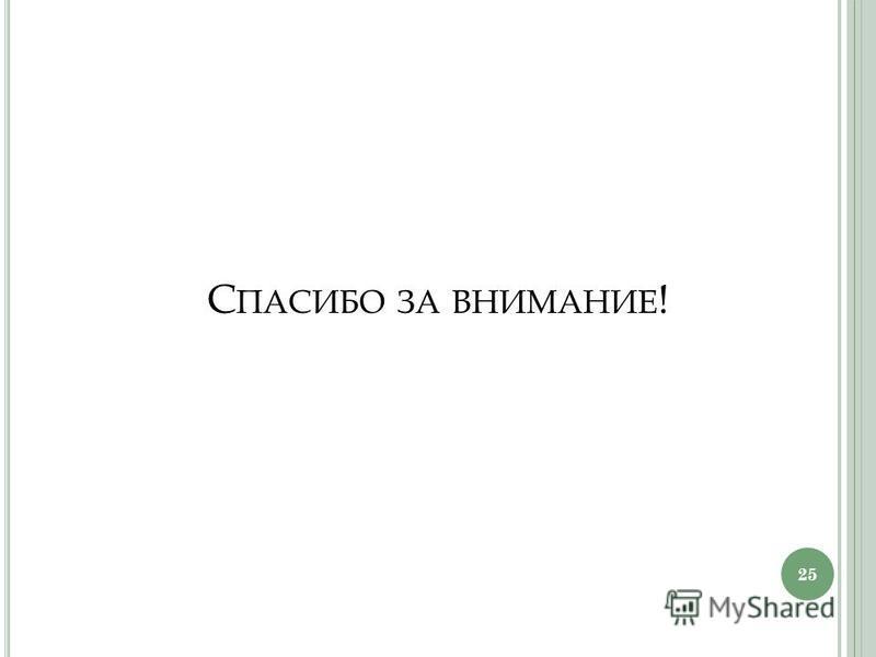 С ПАСИБО ЗА ВНИМАНИЕ ! 25