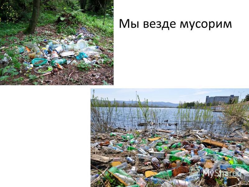 Мы везде мусорим