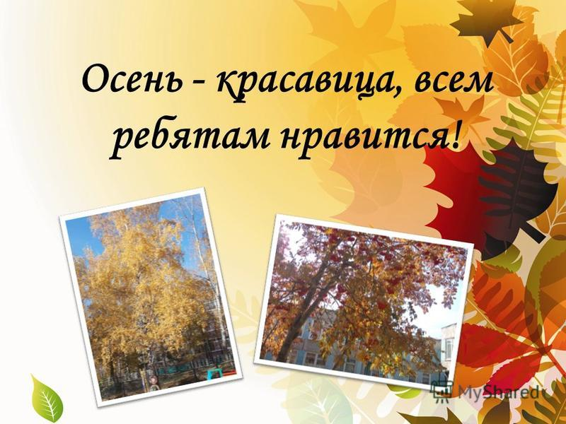 Осень - красавица, всем ребятам нравится!