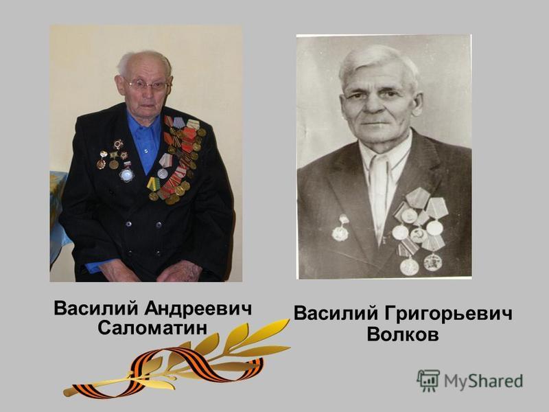 Василий Андреевич Саломатин Василий Григорьевич Волков