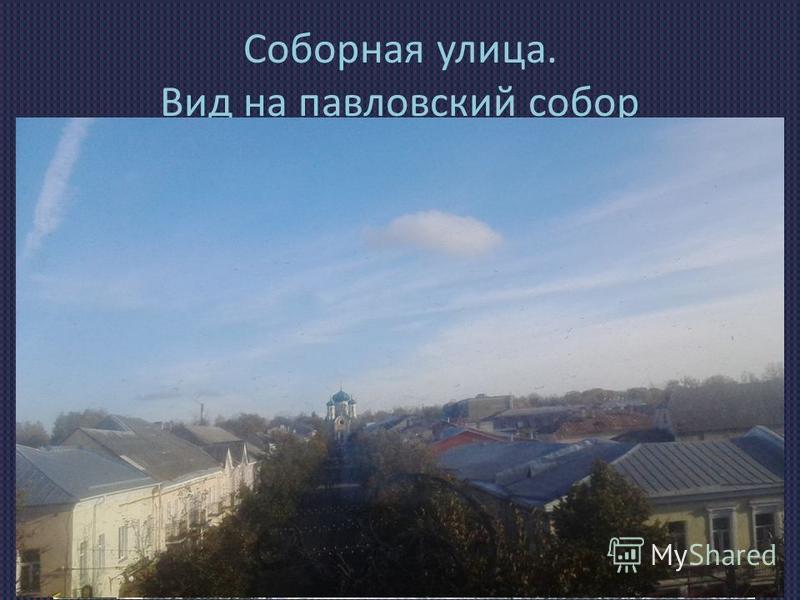 Соборная улица. Вид на павловский собор