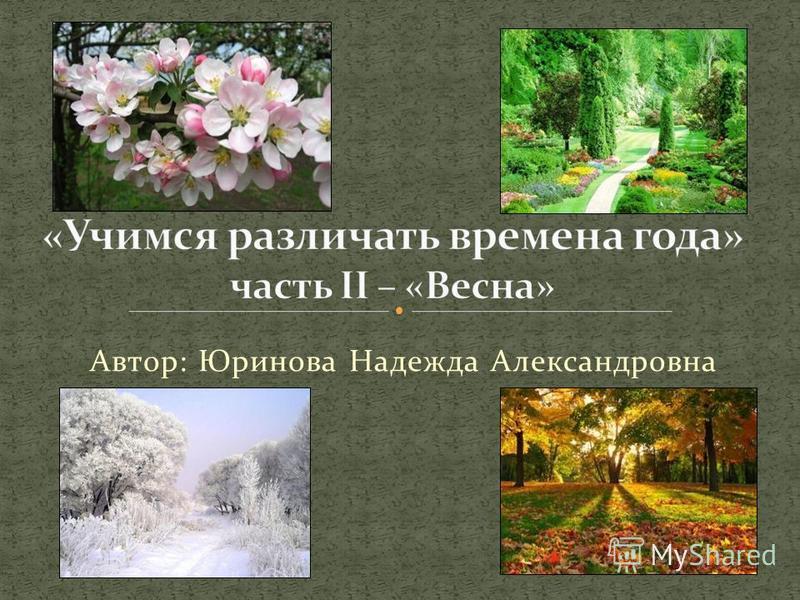 Автор: Юринова Надежда Александровна
