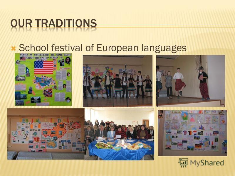 School festival of European languages