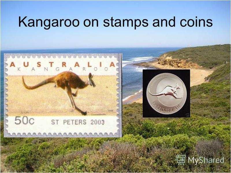 Kangaroo on stamps and coins