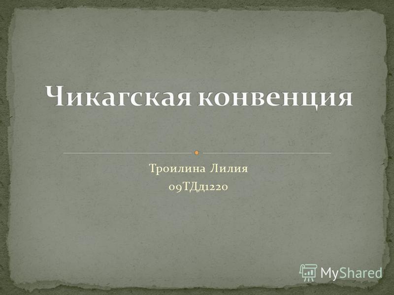 Троилина Лилия 09ТДд 1220