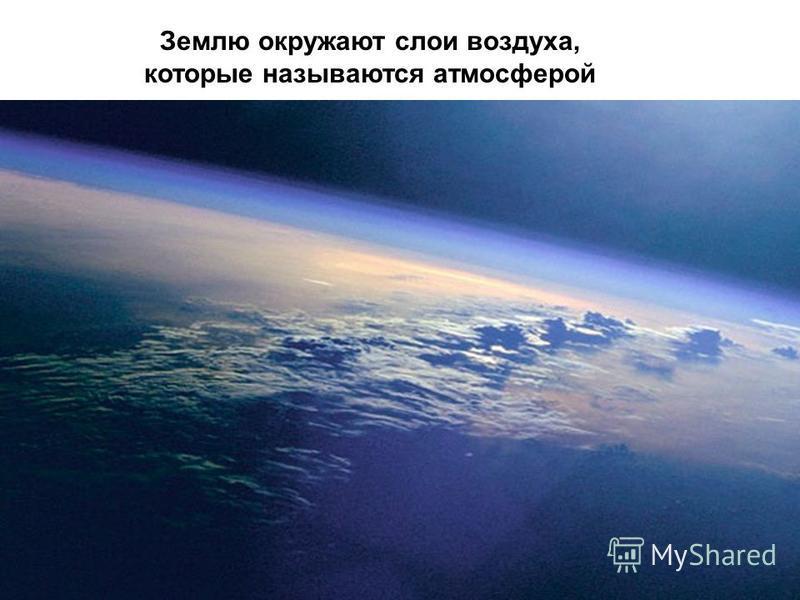 Землю окружают слои воздуха, которые называются атмосферой