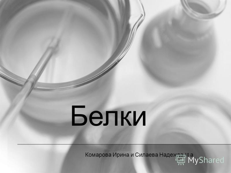 Белки Комарова Ирина и Силаева Надежда 10 а