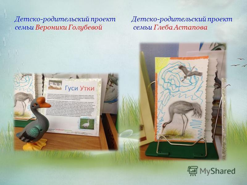 Детско-родительский проект Детско-родительский проект семьи Вероники Голубевой семьи Глеба Астапова
