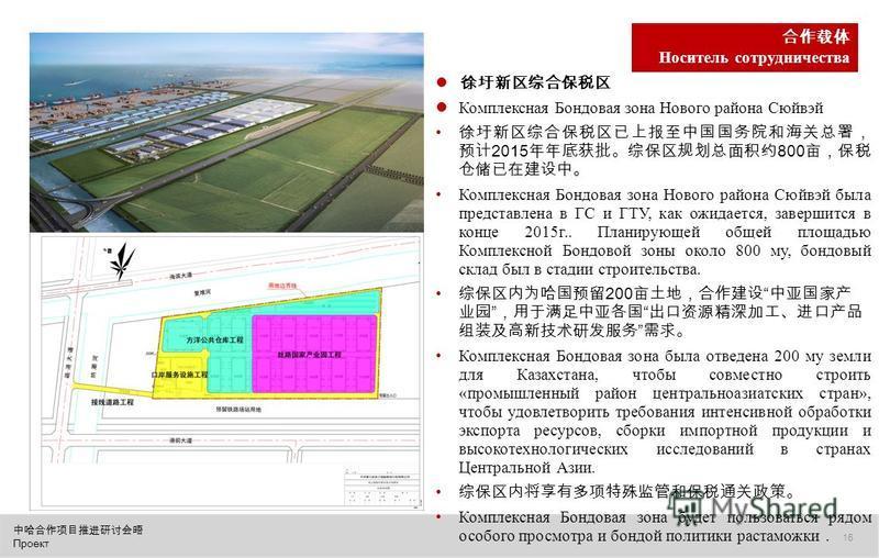 Проект 16 Комплексная Бондовая зона Нового района Сюйвэй 2015 800 Комплексная Бондовая зона Нового района Сюйвэй была представлена в ГС и ГТУ, как ожидается, завершится в конце 2015 г.. Планирующей общей площадью Комплексной Бондовой зоны около 800 м