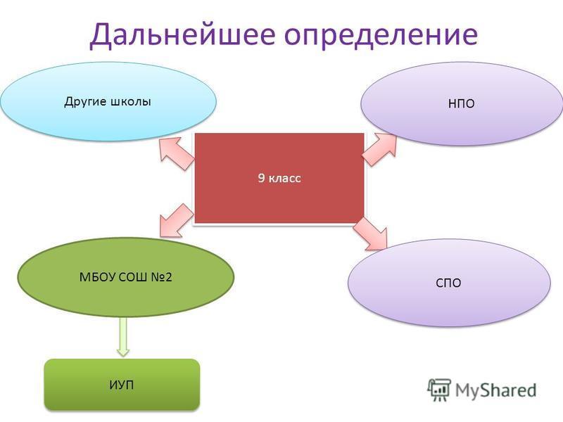Дальнейшее определение 9 класс Другие школы СПО НПО ИУП МБОУ СОШ 2