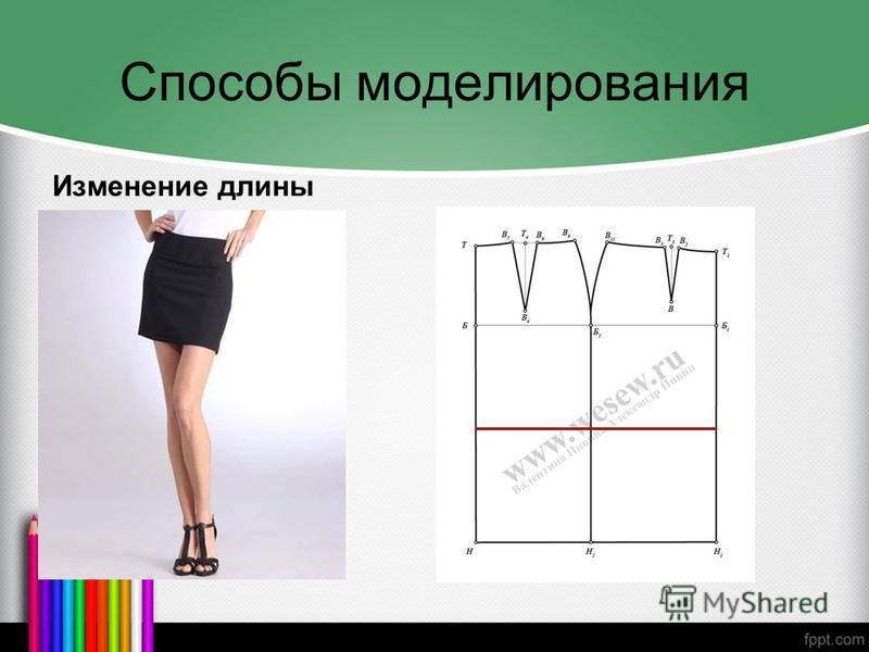 Способы моделирования Изменение длины
