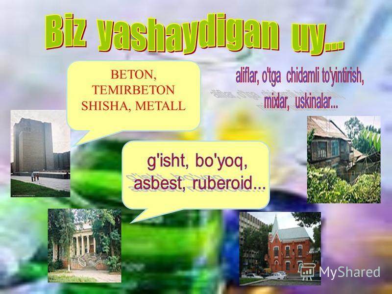 BETON, TEMIRBETON SHISHA, METALL