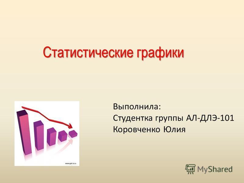 Статистические графики Выполнила: Студентка группы АЛ-ДЛЭ-101 Коровченко Юлия