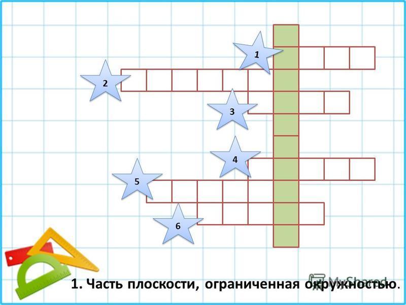 1 1 2 2 3 3 4 4 5 5 6 6 1. Часть плоскости, ограниченная окружностью.