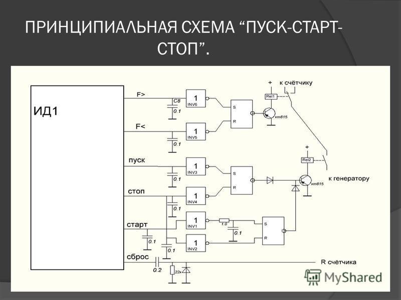 ПРИНЦИПИАЛЬНАЯ СХЕМА ПУСК-СТАРТ- СТОП.