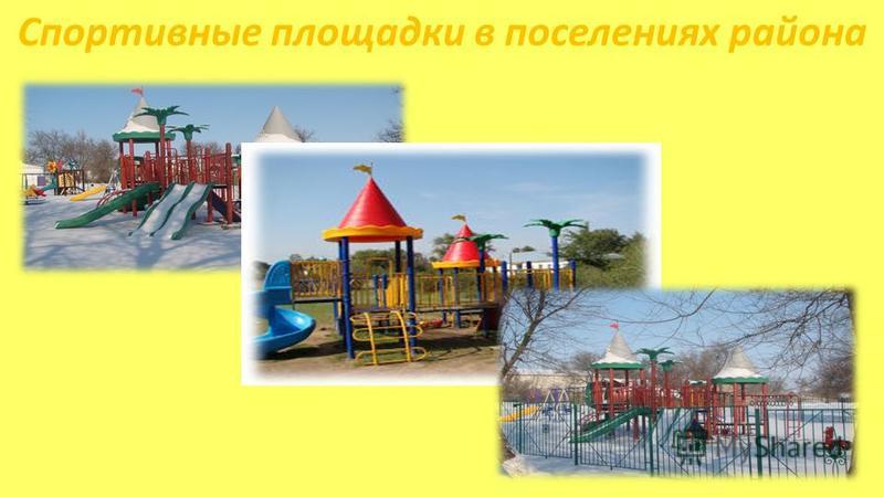 Спортивные площадки в поселениях района
