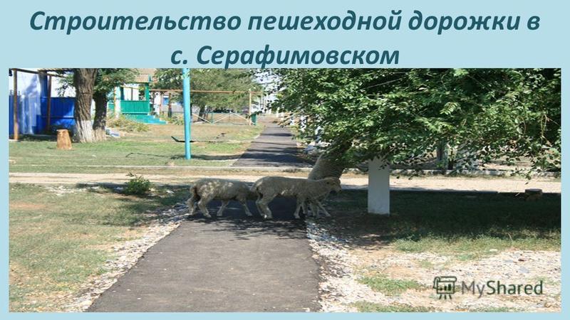 Строительство пешеходной дорожки в с. Серафимовском