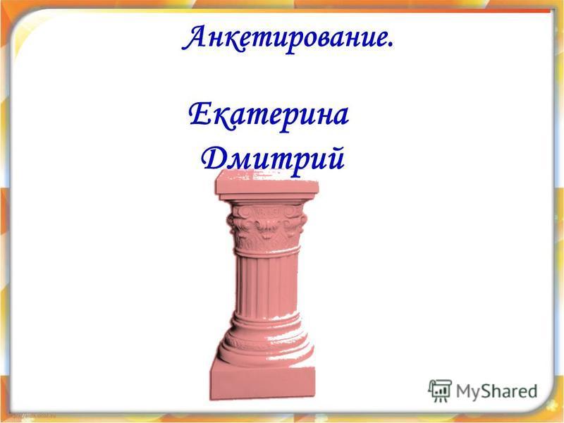 Анкетирование. Екатерина Дмитрий