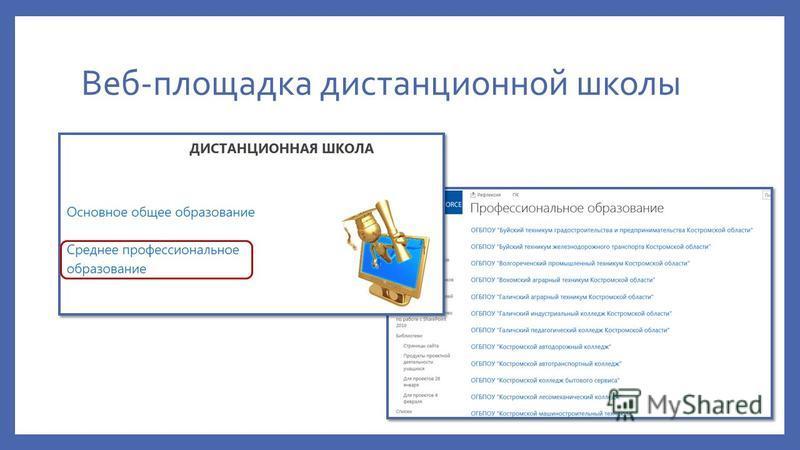 Веб-площадка дистанционной школы