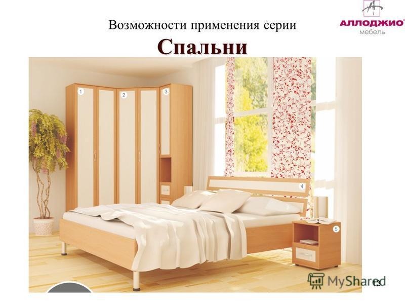 Спальни Возможности применения серии Спальни 13