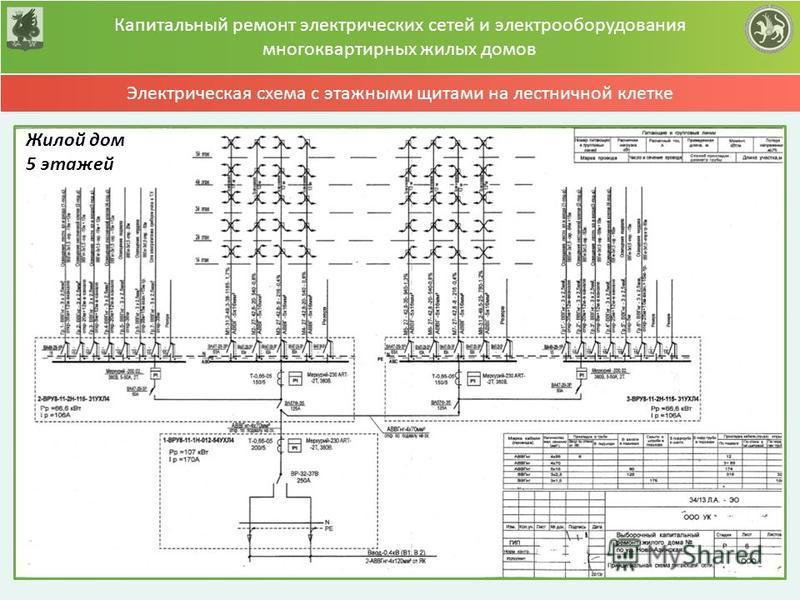 Схема электрической сети многоквартирных домов5