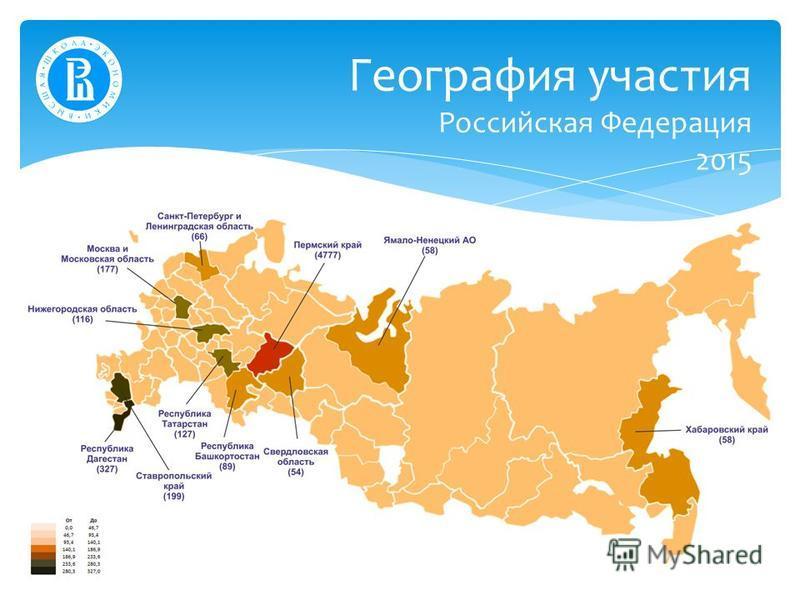 География участия Российская Федерация 2015