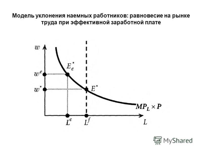 Модель уклонения наемных работников: равновесие на рынке труда при эффективной заработной плате