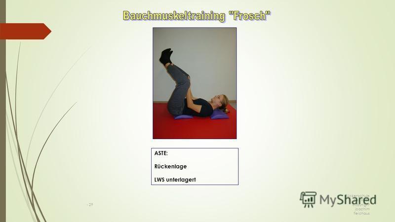Rückenschule des VPT / copyright joachim fleichaus - 29 ASTE: Rückenlage LWS unterlagert