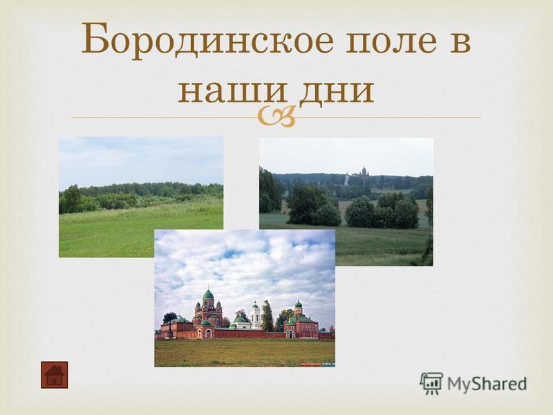 Бородинское поле в наши дни