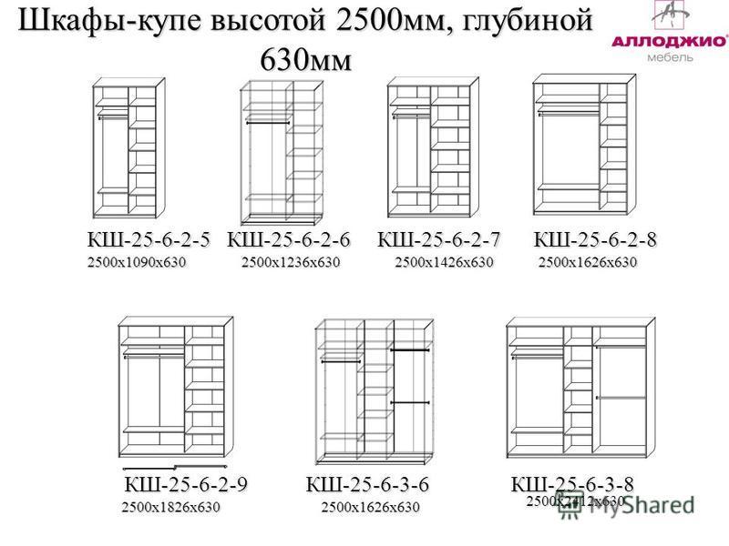 Шкафы-купе высотой 2500 мм, глубиной 630 мм КШ-25-6-2-9КШ-25-6-3-8 2500 х 1090 х 6302500 х 1426 х 630 2500 х 1626 х 630 2500 х 1826 х 630 2500 х 2412 х 630 КШ-25-6-2-5 КШ-25-6-2-6 КШ-25-6-2-7 КШ-25-6-2-8 КШ-25-6-3-6 2500 х 1626 х 630 2500 х 1236 х 63