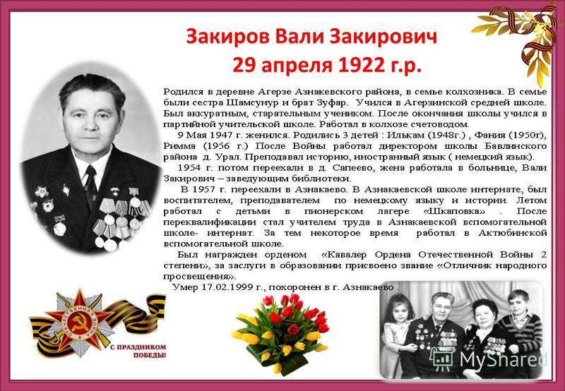 http://ru.viptalisman.com/flash/templates/graduate_album/album2/852_small.jpg Закиров Вали Закирович 29 апреля 1922 г.р.