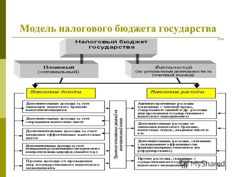 Модель налогового бюджета государства