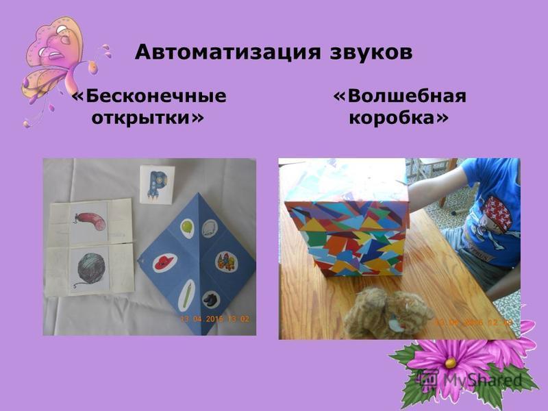 Автоматизация звуков «Бесконечные открытки» «Волшебная коробка»