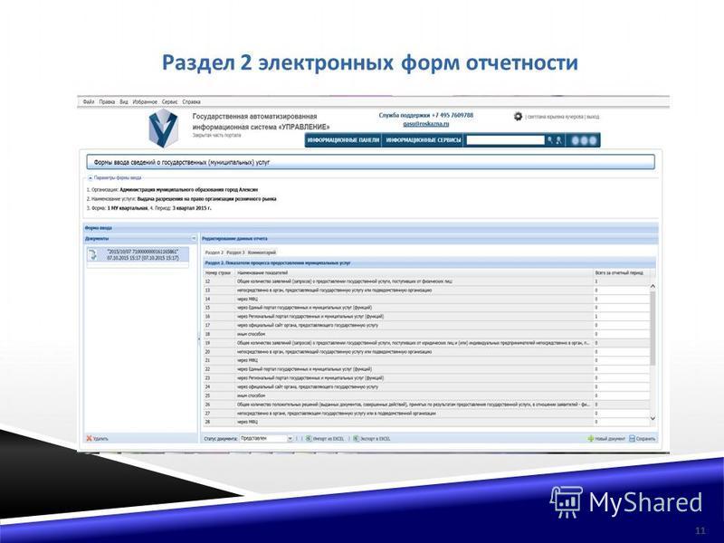 Раздел 2 электронных форм отчетности 11
