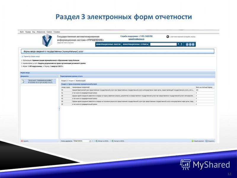 Раздел 3 электронных форм отчетности 12