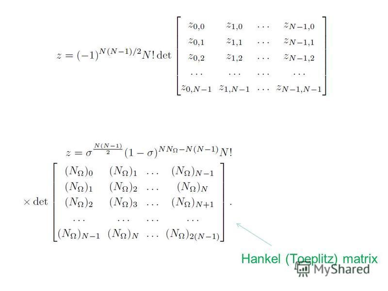 Hankel (Toeplitz) matrix