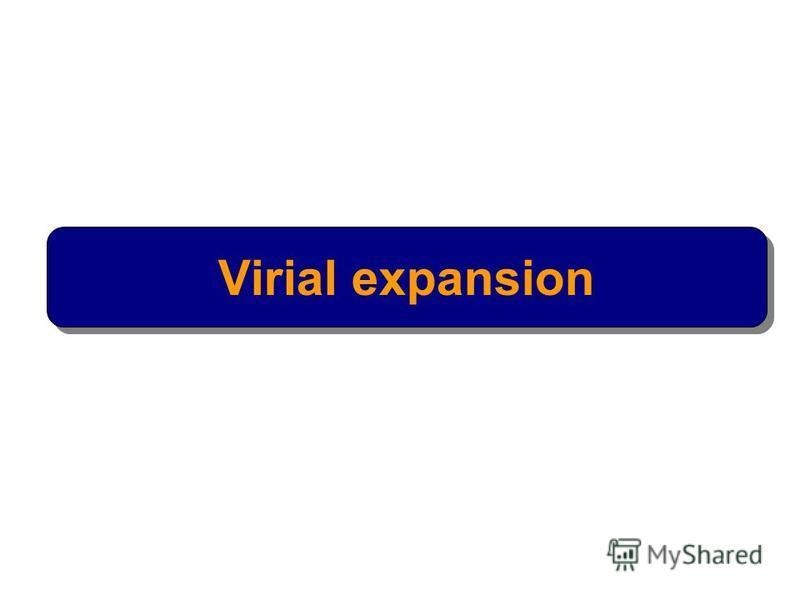 Virial expansion