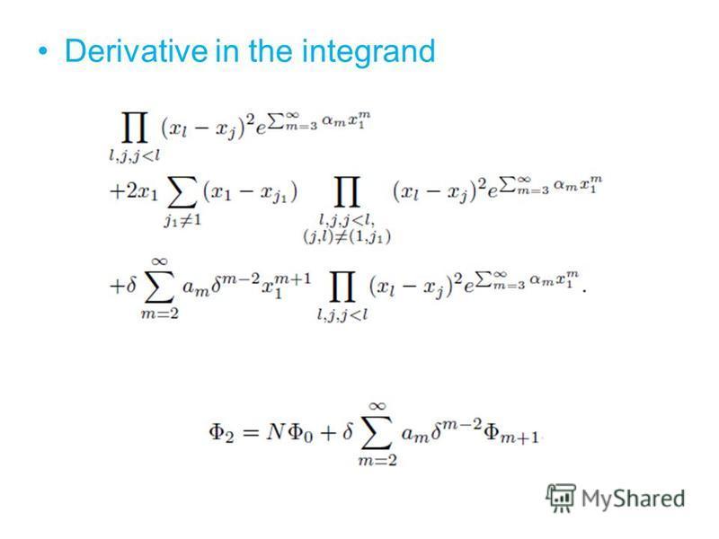 Derivative in the integrand