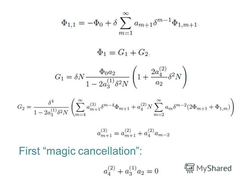 First magic cancellation: