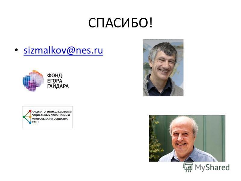 CПАСИБО! sizmalkov@nes.ru