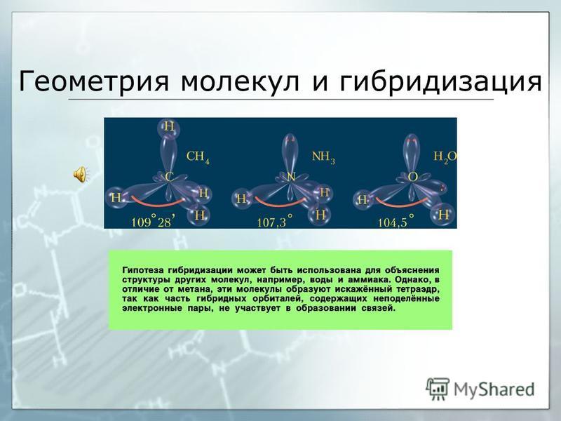 Геометрия молекул и гибридизация