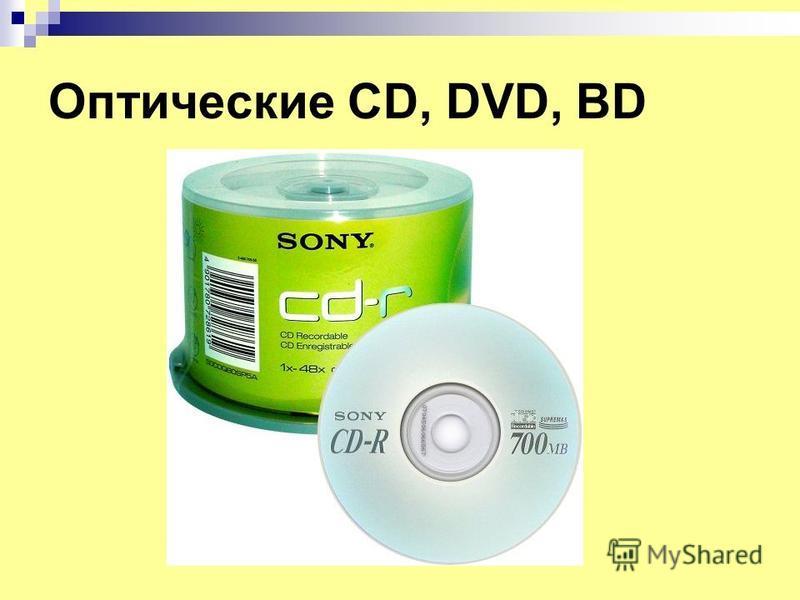 Оптические CD, DVD, BD