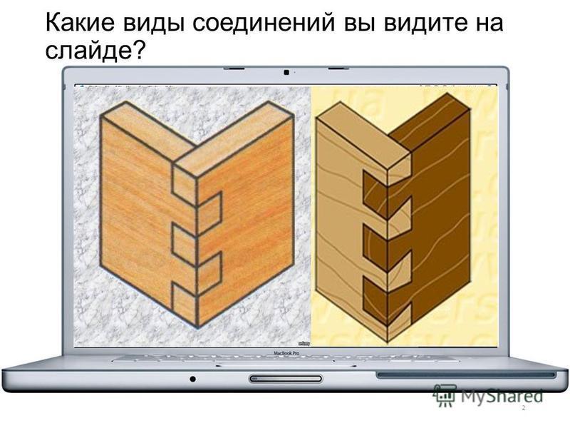 Какие виды соединений вы видите на слайде? 2