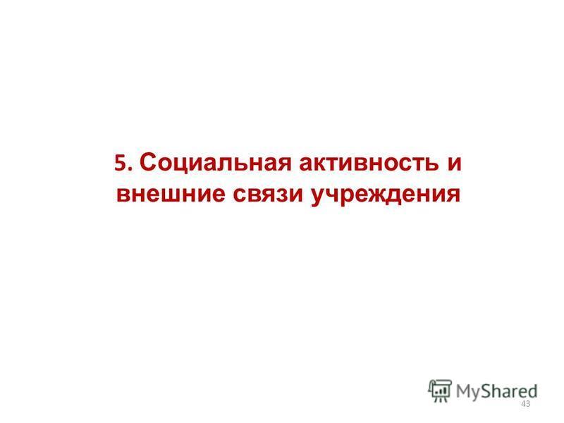 5. Социальная активность и внешние связи учреждения 43