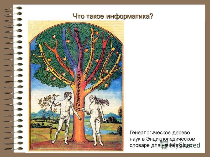 Что такое информатика? Генеалогическое дерево наук в Энциклопедическом словаре для начинающих