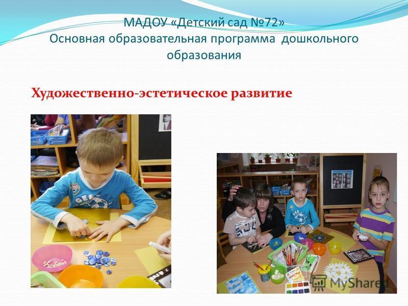 МАДОУ «Детский сад 72» Основная образовательная программа дошкольного образования Художественно-эстетическое развитие