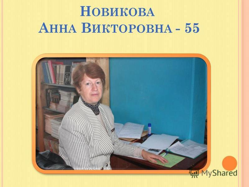 Н ОВИКОВА А ННА В ИКТОРОВНА - 55