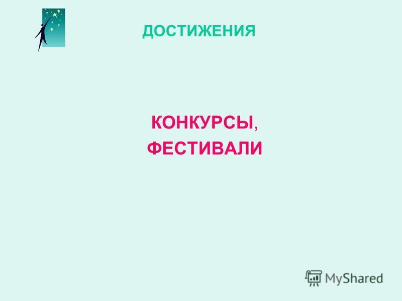 ДОСТИЖЕНИЯ КОНКУРСЫ, ФЕСТИВАЛИ