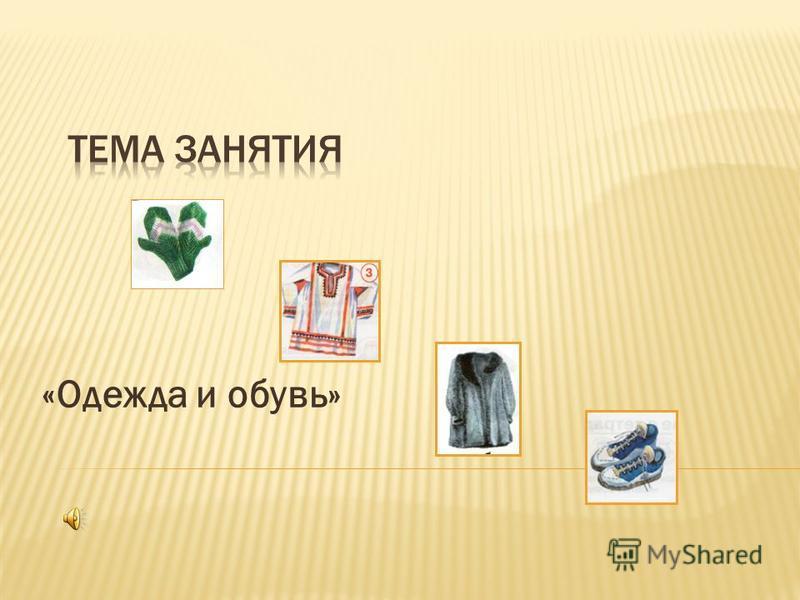 «Одежда и обувь»