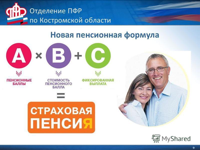 9 Отделение ПФР по Костромской области Новая пенсионная формула
